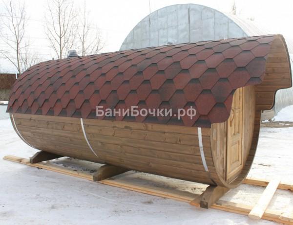 овальная баня бочка 6 метров