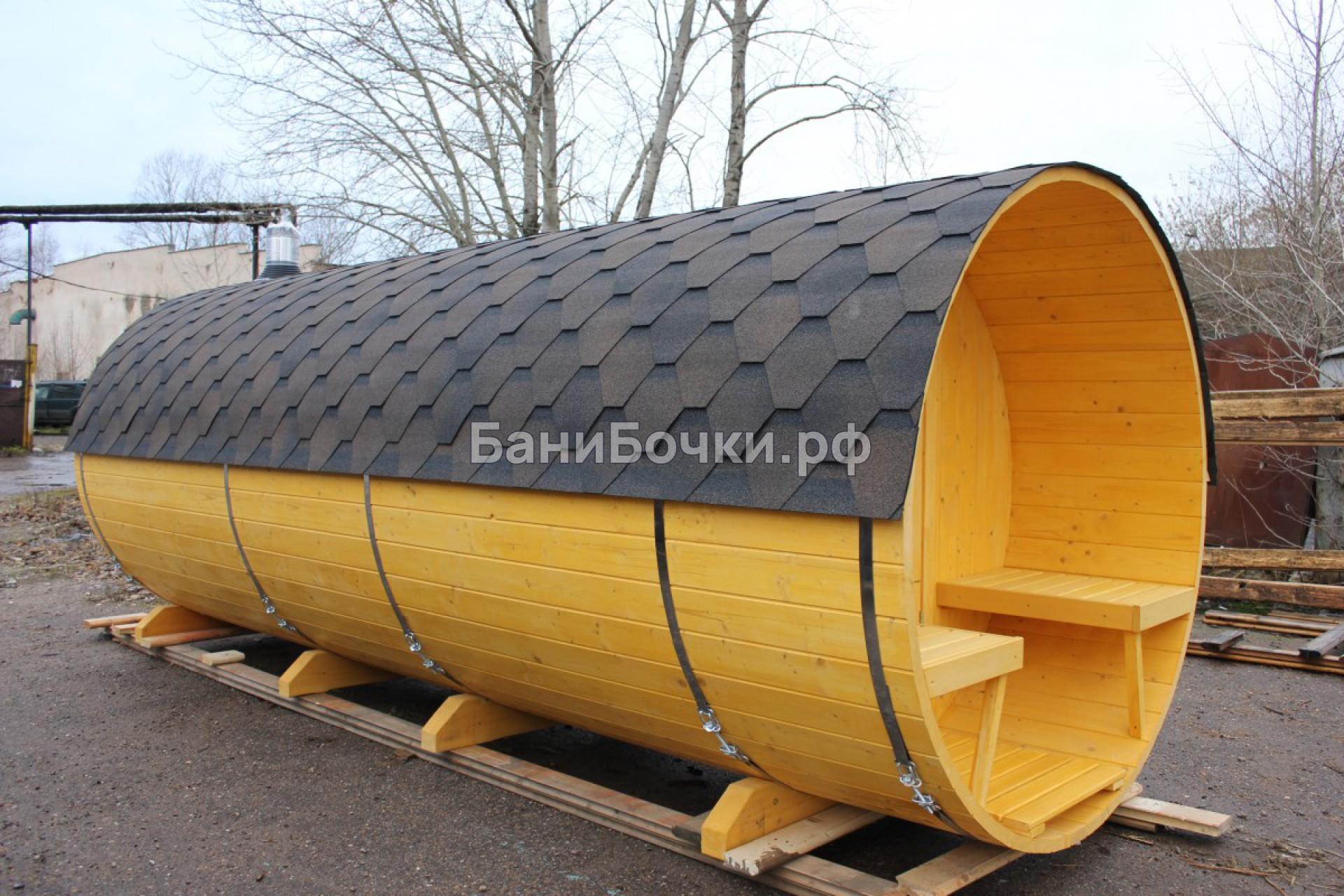 баня бочка в калужской области под ключ цена