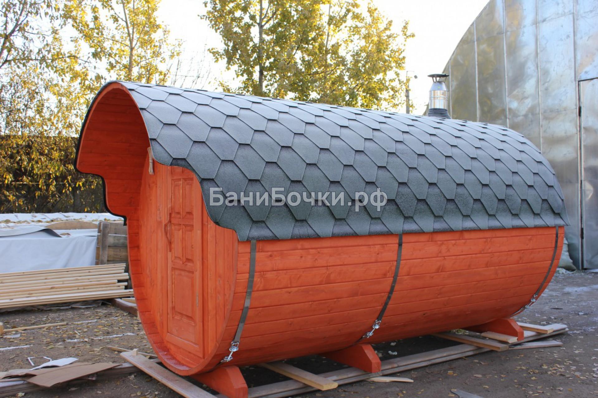 утепленная баня танк